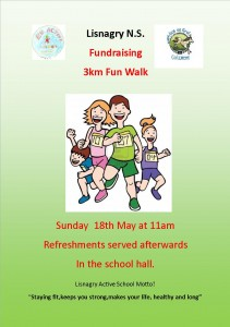 Lisnagry 5km fun walk Sponsorship card 1